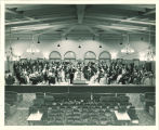 University orchestra assembled in the Iowa Memorial Union, The University of Iowa, 1940s