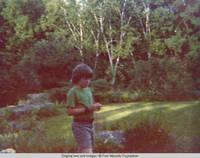 John, Jr. walking in Rock garden