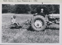 Tree planting on the Earl Durey farm.