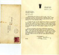 George Corey's letter to Helen Patricia (Patsy) Wilson suggesting how to collect more bookplates.