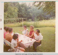 Heitzmans gathering at table