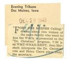 """""""Fort Des Moines calling"""""""