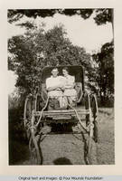 Geo and Hazel in buggy
