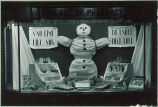 College of Pharmacy window display, The University of Iowa, 1940s