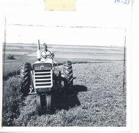 Donald Gray on Lorianne Gray farm, 1964
