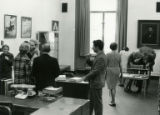 Attendees at a Special Collections open house, 1971