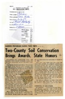 Two-county soil conservation brings awards, state honors.