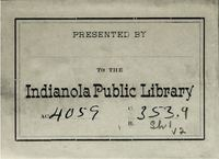 Indianola Public Library bookplate