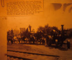 Gaar Scott Threshing Machine Owned by Frank Harris in Beacon, Iowa, 1901 with Caption