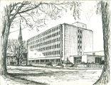 Phillips Hall on Clinton Street, The University of Iowa, 1960s?