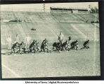 Football team practicing, The University of Iowa, October 13, 1933
