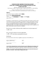 Iowa Soil Conservation Awards Program Nomination Form And Entry Letter, 2017