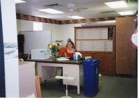 2002  - Volunteer Rachel Fosdick helps out in the office