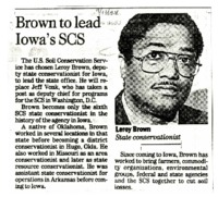 State Conservationist Leroy Brown