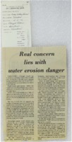 Water Erosion Danger