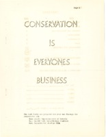 Conservation is everyone's business