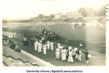 May Day procession on Iowa Field, The University of Iowa, May 1915