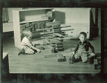 Children building with wood blocks, The University of Iowa, February 22, 1938