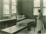 Milk laboratoy in the University of Iowa Hospitals and Clinics, the University of Iowa, 1919