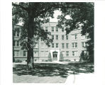 Entrance to Hillcrest Hall, the University of Iowa, 1960s?