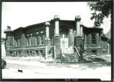 Close Hall after fire destroyed the upper floors, The University of Iowa, June 18, 1940