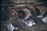 Leland McCosh's farm equipment, 1946