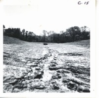 Raymond Clark land damage from heavy rains, 1968