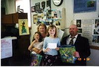 Poster contest winner with family, 2005