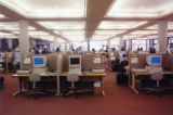 Public computers on the first floor before library renovation, 1999