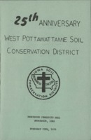 Program for the 25th Anniversary celebration for the West Pottawattamie Soil Conservation District.