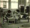 Small girls in playroom, The University of Iowa, January 12, 1938