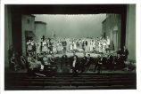 Full company and orchestra from Cavalleria rusticana by Mascagni, The University of Iowa, April 1938