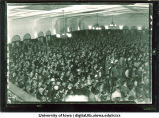 Homecoming crowd at Iowa Memorial Union, The University of Iowa, 1940s