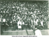 Spectators at Iowa-Nebraska football game at Iowa Field, The University of Iowa, October 4, 1919