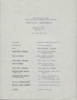 Awards banquet agenda, 1989.