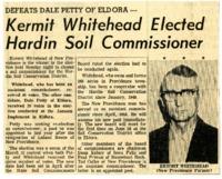 Kermit Whitehead elected Hardin Soil Commissioner.