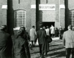 Alumni heading for the Homecoming reception in the State Gym, 1968
