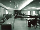Practice court room in the Law Center, the University of Iowa, 1960