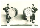 Scottish Highlander drummers, The University of Iowa, 1930s