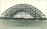 End view of Armory construction, the University of Iowa, Summer 1920?