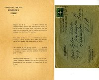 Constant Van Dijk letter to Helen Patricia (Patsy) Wilson exchanging bookplates.