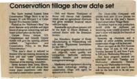 Conservation Tillage Show Date Set