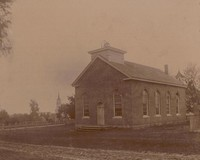 First Congregational Church in Garnavillo, Iowa -1890