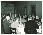 President Hancher and guests at a dinner in the Iowa Memorial Union, the University of Iowa, November 21, 1950
