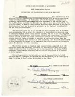 1953 SCS memorandum of understanding to Lee County regarding transportation and other equipment.