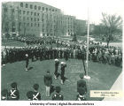 Navy inauguration near Field House, The University of Iowa, April 16, 1942