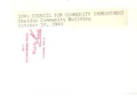 Sheldon Community Building