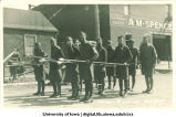 Men in costume for Engineers' parade, The University of Iowa, 1917