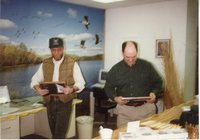 1996 - Chairperson Jeff Bergman presents Charles Nealey with the  Owner/Operator & Sweepstakes Awards