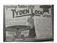 049. Tyden Pedestal Table Lock Advertisement